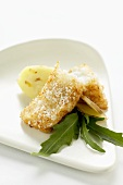Cod in coconut coating with ginger mashed potato