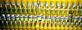 Limoncello (lemon liqueur) in bottles at a market
