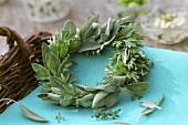 Small wreath of sage and wormwood