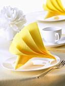 Napkin folding design: 'Against the grain'