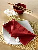 Napkin folding design: 'Love letter'
