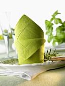 Napkin folding design: 'Matterhorn'