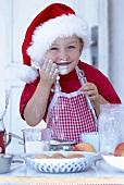 'Junge Bäckerin' mit Mehl im Gesicht
