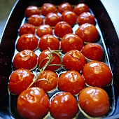Marinated cocktail tomatoes
