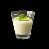 Lime mousse in a glass