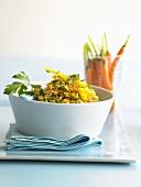 Bulgur wheat salad with coriander carrots