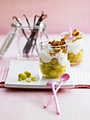Layered gooseberry dessert (with gooseberry compote)