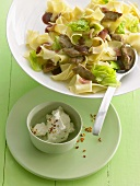 Krautfleckerl (pasta and cabbage) with beef