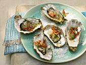 Gegrillte Austern mit Speck