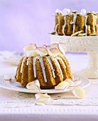 Poppy seed gugelhupf with sugared flower petals