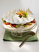 Pavlova with mixed fruit