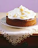 Lemon cake with meringue topping