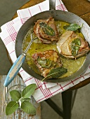 Saltimbocca alla romana (Veal escalopes with sage)
