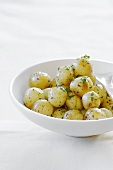 Potatoes with white wine glaze