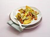 Omelett mit Artischockengemüse