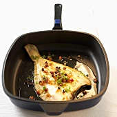 Finkenwerder plaice in frying pan