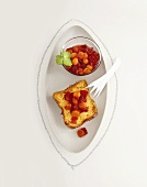 French toast with strawberry and physalis compote