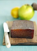 A block of quince jelly