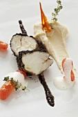 Monkfish with white bean puree