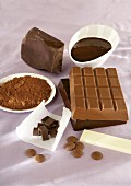 Chocolate in various forms