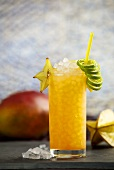 'Endless Summer' cocktail (peach liqueur, passion fruit syrup, soda water, mango juice)