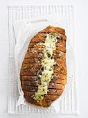 Herb bread with parmesan