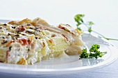 Asparagus and potato bake