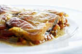 Vegetable lasagne with chives