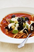 Tortilla soup with tomatoes and ancho chillis (Mexico)