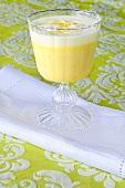 A glass of egg liqueur