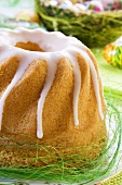 Easter Bundt cake covered with icing sugar (Poland)