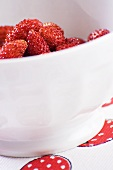 A bowl of alpine strawberries