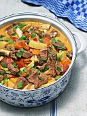 Veal goulash with vegetables