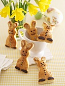 Easter bunny yeast dough biscuits