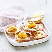 Passion fruit tartlets