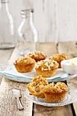 Pine nut muffins