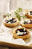 Onion and goat's cheese tartlets
