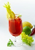 Bloody Caesar cocktail