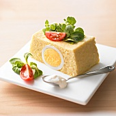 Fish terrine with egg and sour cream