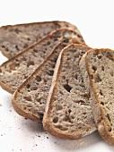 Sliced farmhouse bread