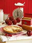 Apple pie plus ingredients