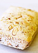 Brazilian cheese bread with flaked almonds