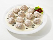 Königsberger meatballs with a caper sauce