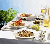 Mediterran gedeckter Tisch
