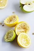 Juiced lemons and limes and half an apple