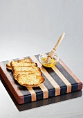 Toasted bread with garlic and olive oil