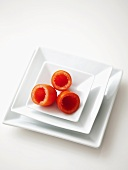 Hollowed-out tomatoes