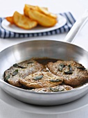 Lemon veal escalopes with sage