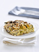 Courgette and mushoom lasagne
