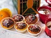 Orange muffins and cauliflower soup